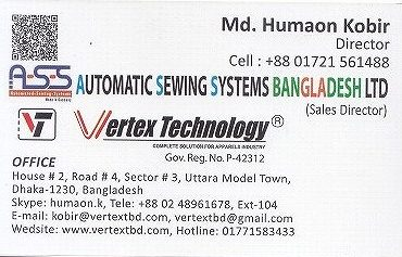 Automatic Sewing Systems BD Ltd